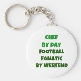 Chaveiro Cozinheiro chefe pelo fanático do futebol do dia