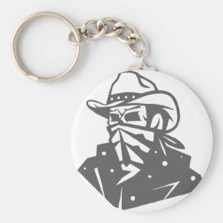 Chaveiro Crânio do vaqueiro com Bandana e chapéu