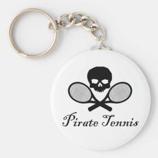 Chaveiro Crânio & raquete do tênis do pirata