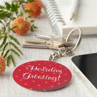 Chaveiro Criar seu próprio feriado modelado Natal