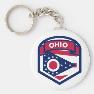 Chaveiro Crista da bandeira do estado de Ohio dada forma
