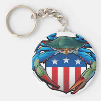 Chaveiro Crista dos EUA do caranguejo azul