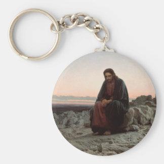 Chaveiro Cristo na região selvagem - belas artes de Ivan