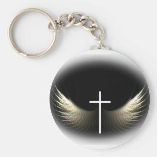 Chaveiro Cruz cristã e Espírito Santo inspirados