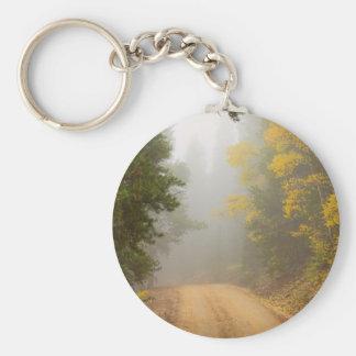 Chaveiro Cruzamento na névoa do outono