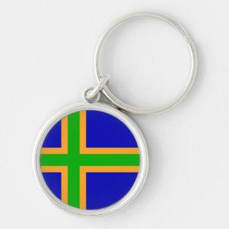 Chaveiro CTOC do símbolo da bandeira da região de Dinamarca