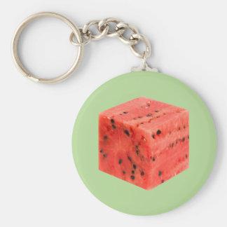 Chaveiro Cubo vermelho doce fresco original da comida da