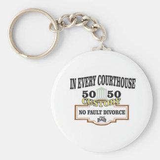 Chaveiro custódia 50 50 em cada tribunal