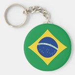 Chaveiro da bandeira de Brasil Fisheye