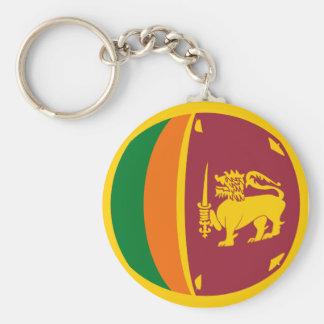 Chaveiro da bandeira de Sri Lanka Fisheye