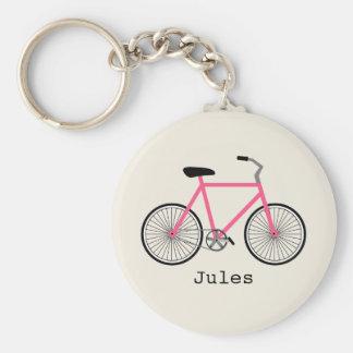 Chaveiro da bicicleta do rosa quente