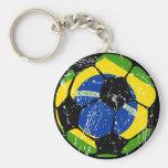 Chaveiro da bola de futebol de Brasil