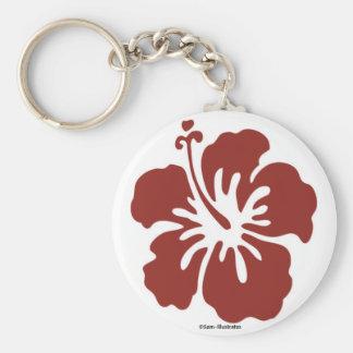 Chaveiro da flor do hibiscus