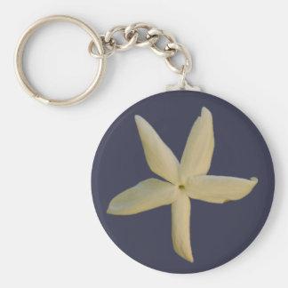 Chaveiro da flor do jasmim