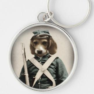 Chaveiro da guerra civil do lebreiro do cão pelo c