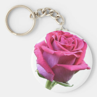Chaveiro da imagem do botão do rosa do rosa