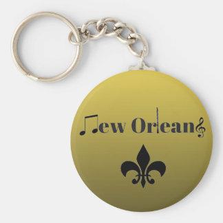 Chaveiro Chaveiro da música jazz de Nova Orleães do ouro do
