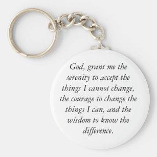 Chaveiro da oração da serenidade, simples & limpo