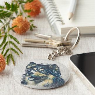 Chaveiro da pintura do Sheepdog de Shetland
