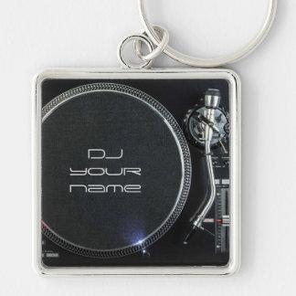Chaveiro da plataforma giratória do DJ