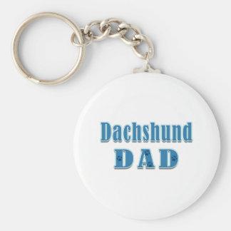 Chaveiro Dachshunds: Impressão azul da pata do pai do