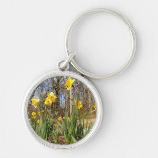 Chaveiro Daffodils no anel chave da páscoa