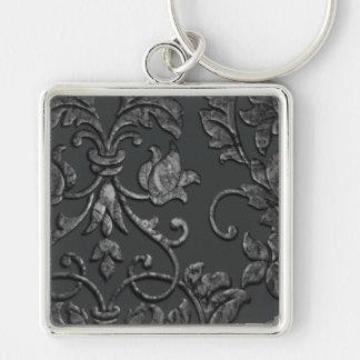 Chaveiro Damasco metálico gravado, peltre