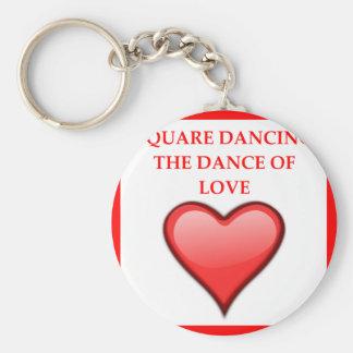 Chaveiro dança quadrada