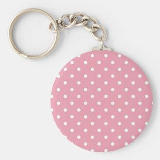 Chaveiro das bolinhas do rosa cor-de-rosa