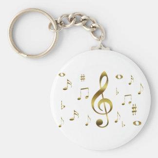 Chaveiro das notas musicais do ouro