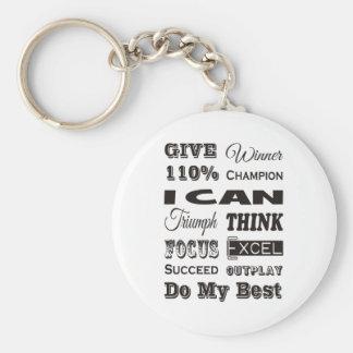 Chaveiro Dê a 110% inspirador inspirado