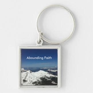 Chaveiro de abundância da montanha da fé