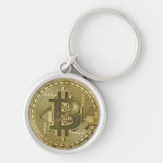Chaveiro de Bitcoin Cryptocurrency do ouro