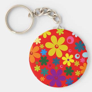 Chaveiro ~~ de FLOWER POWER (um design floral colorido