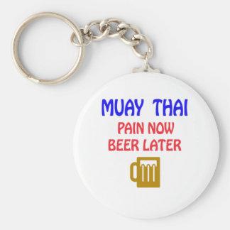 Chaveiro De Muay da dor cerveja tailandesa agora mais tarde