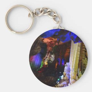 Chaveiro de prata do botão #2-1 da caverna