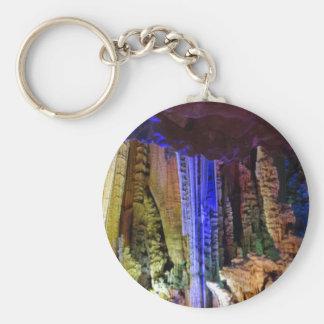 Chaveiro de prata do botão #2-2 da caverna