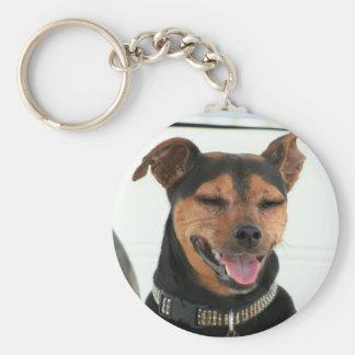 Chaveiro de sorriso do cão