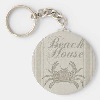 Chaveiro Decoração litoral de Sandy do caranguejo da casa