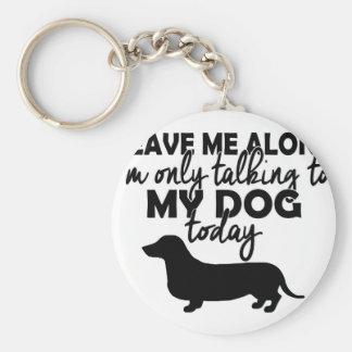 Chaveiro deixe-me sozinho, mim estão falando a meu cão hoje
