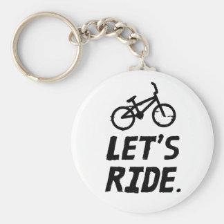 Chaveiro Deixe-nos montar o humor do ciclista da cidade e