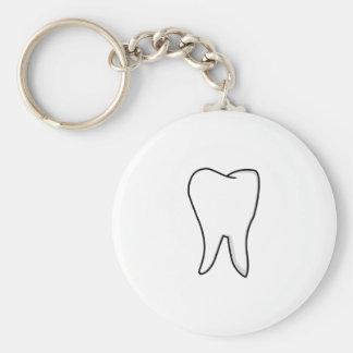 Chaveiro Dente branco saudável