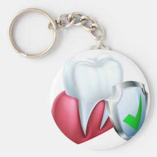 Chaveiro Dente e goma do protetor