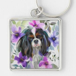 Chaveiro descuidado Tricolor da arte do cão da