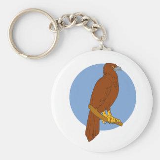 Chaveiro Desenho Cunha-atado australiano da vara de Eagle