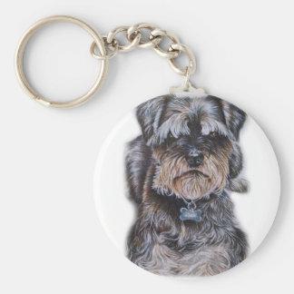 Chaveiro Desenho da arte do cão de Terrier