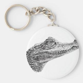 Chaveiro Desenho da tinta do crocodilo do bebê