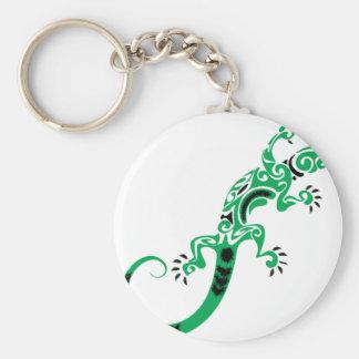 Chaveiro Desenho do lagarto verde