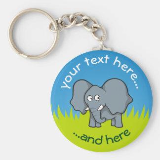 Chaveiro Desenhos animados cinzentos do elefante
