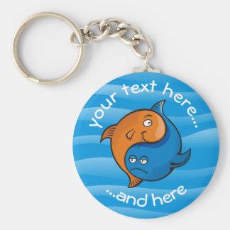 Chaveiro Desenhos animados dos peixes de Yin Yang